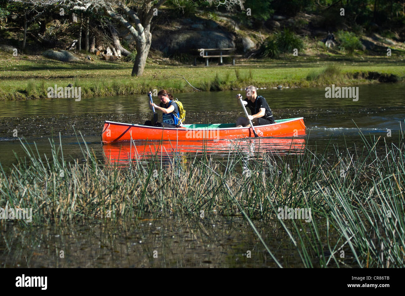 Canoeing Competition Audley Weir Royal National Park Sydney New South Wales NSW Australia
