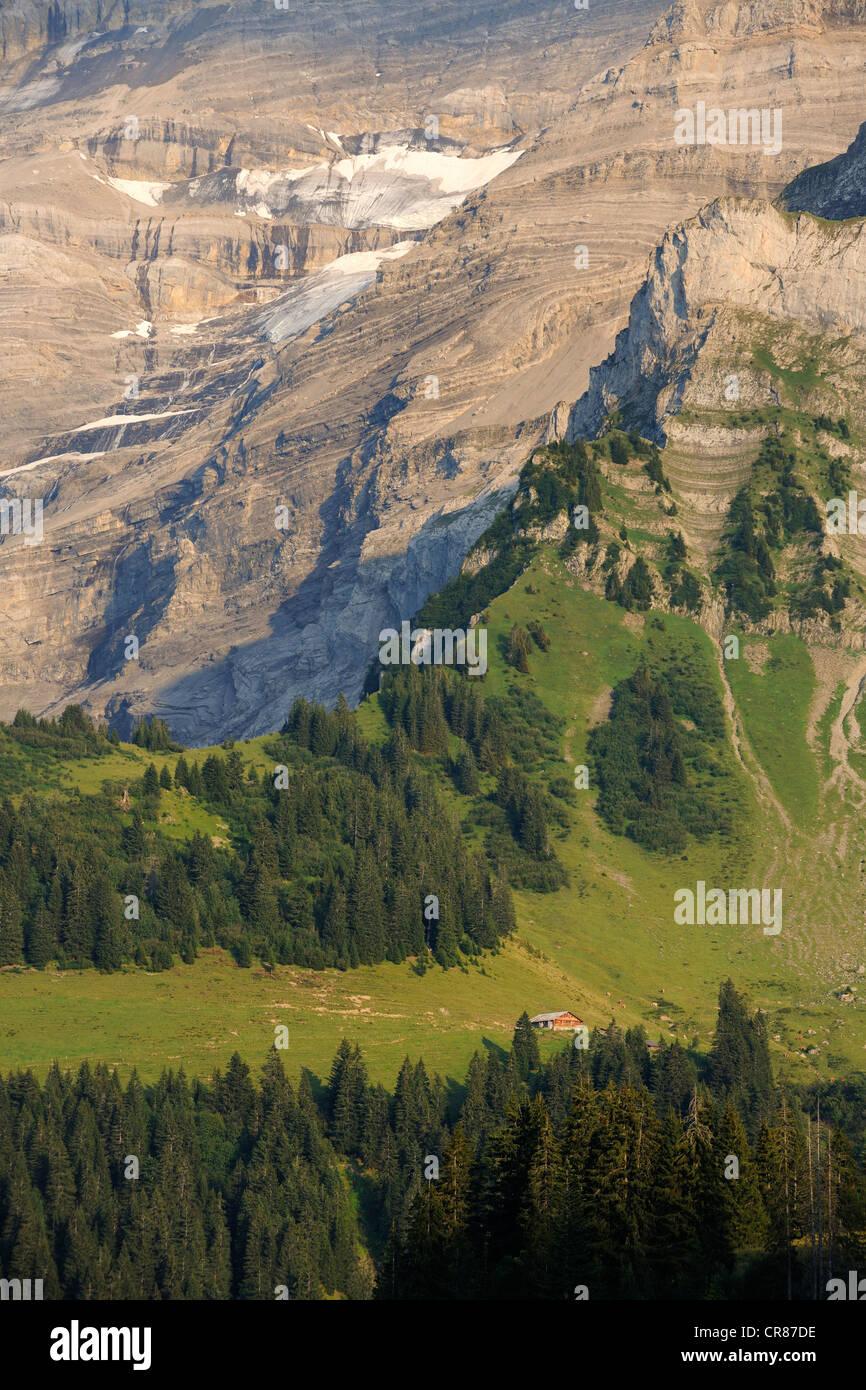 Switzerland, Canton of Vaud, Les Diablerets at the Col de la Croix - Stock Image
