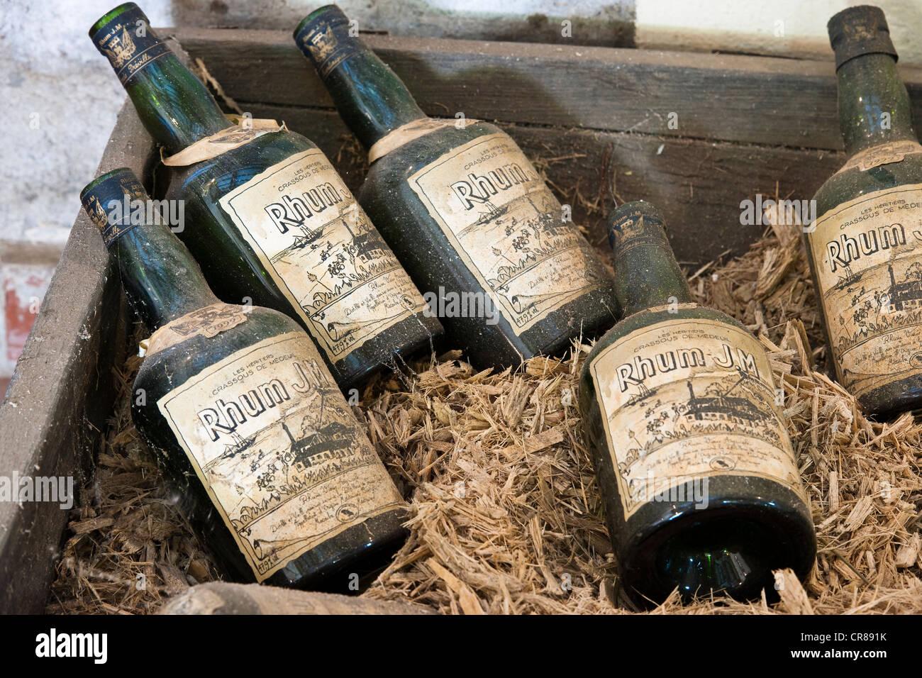 France, Martinique (French West Indies), Macouba, Fond Preville, Crassous de Medeuil housing JM distillery, AOC - Stock Image