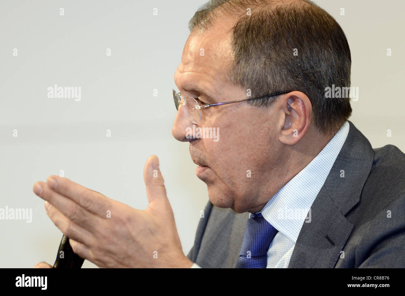 Lavrov, Sergey, * 21.3.1950, Russian politician, diplomat, foreign minister since 2004, portrait, members on the - Stock Image