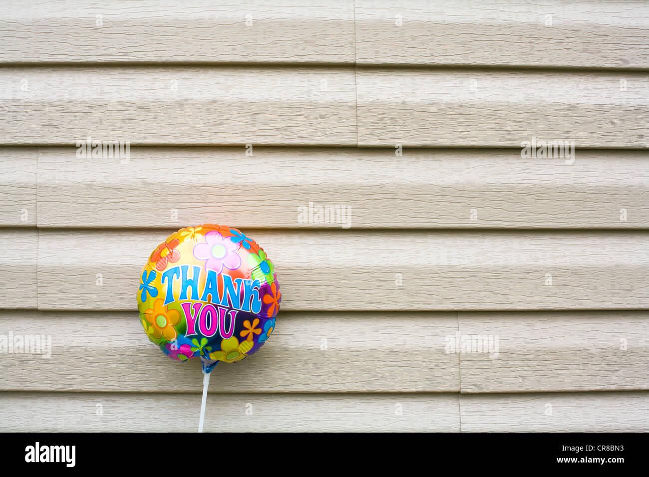 Thank you balloon - Stock Image