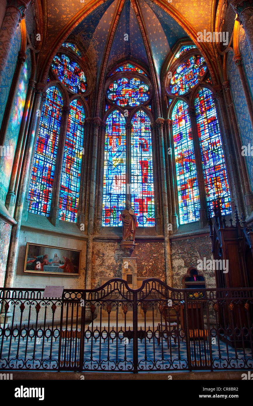 France, Oise, Beauvais, St Pierre Cathedral, Chapel - Stock Image