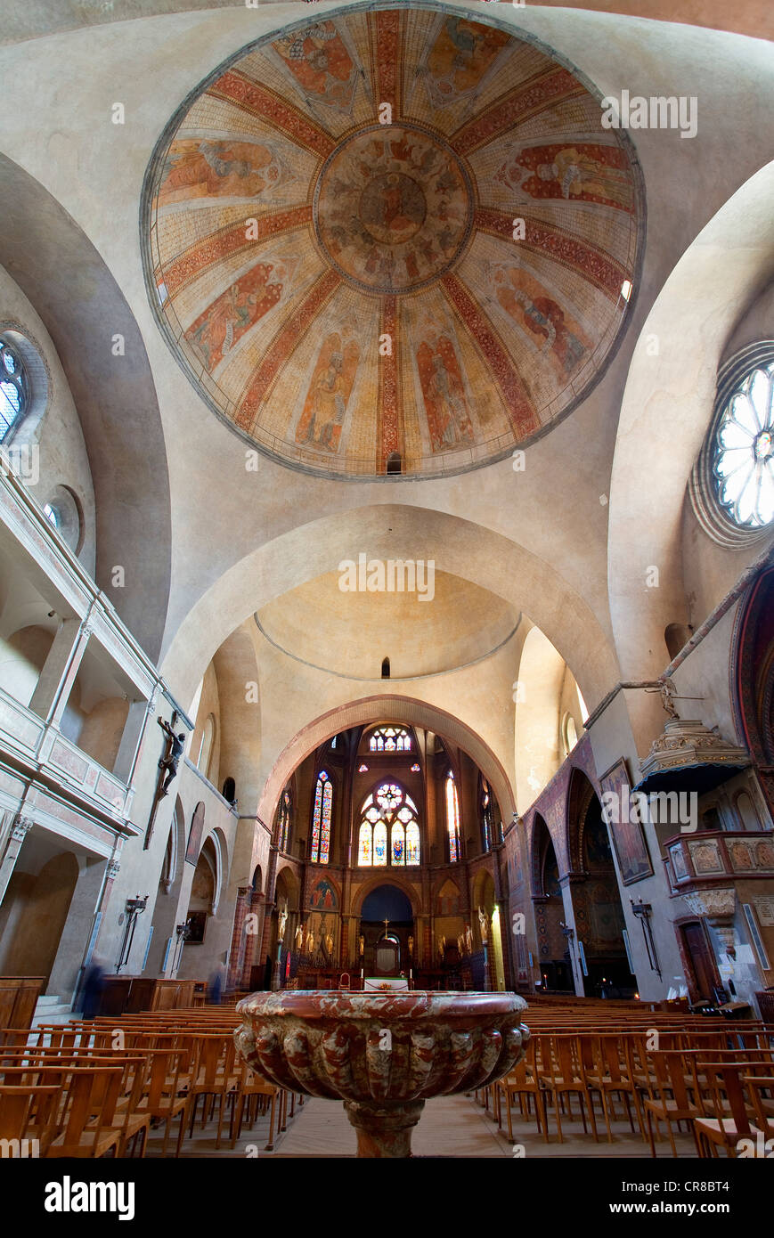 France, Lot, Cahors, St Etienne Cathedral, the cupola - Stock Image