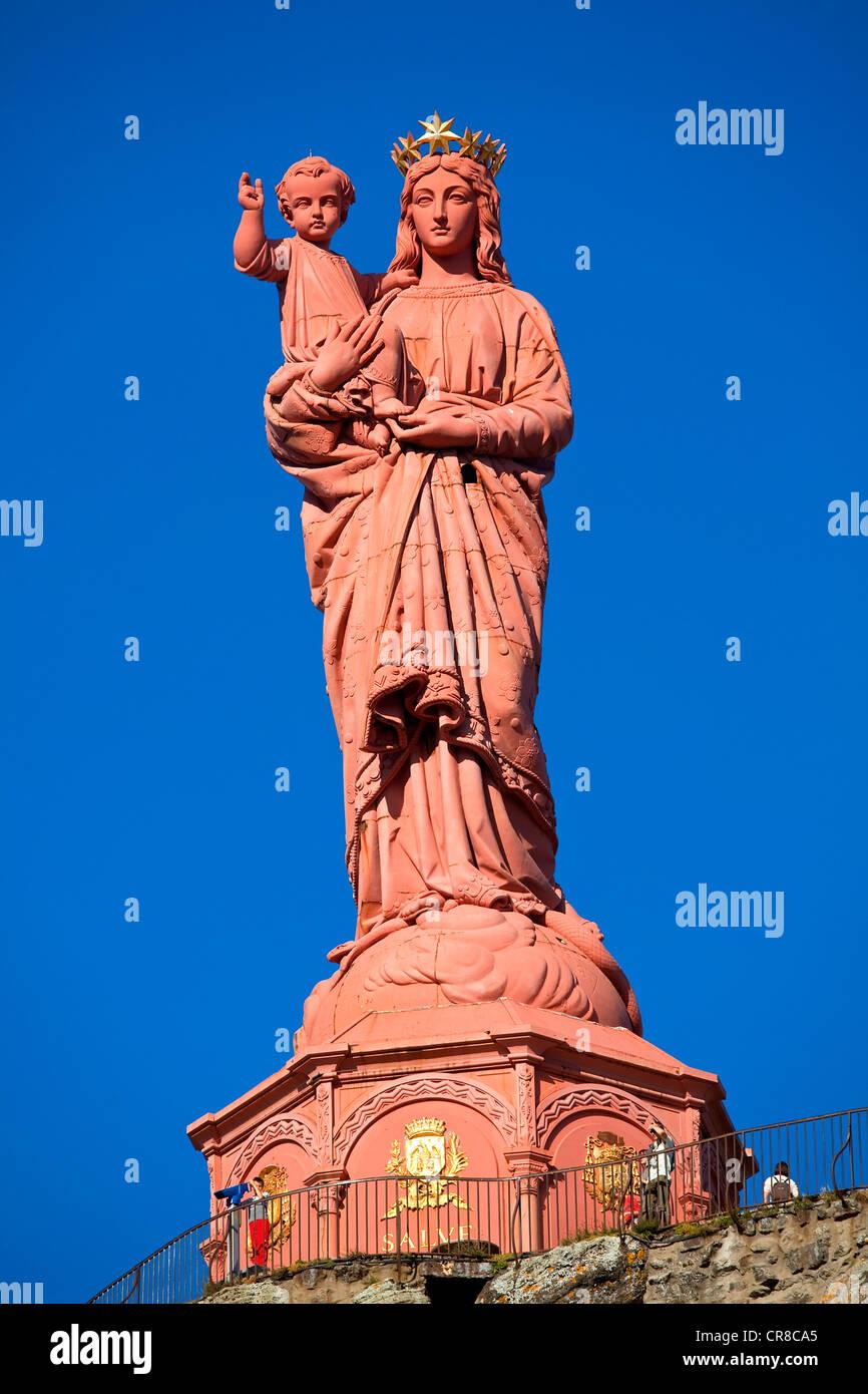 France, Haute Loire, Le Puy en Velay UNESCO World Heritage, the town is a stopover along the pilgrims' route - Stock Image