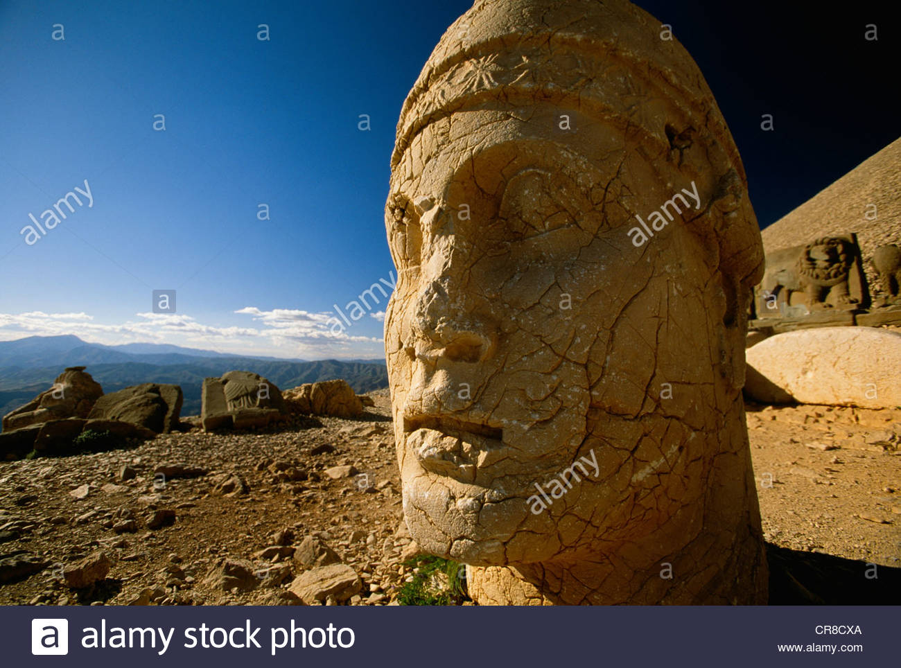 Mausoleum of Antiochus I (69-34 BC), Nemrut Dag Mountain, Kurd Region, Turkey - Stock Image