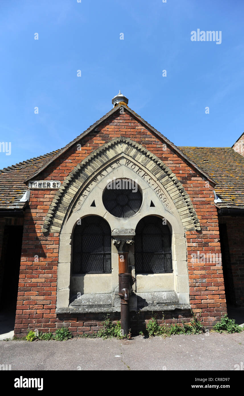 Old water works building in Tower street Rye - Stock Image