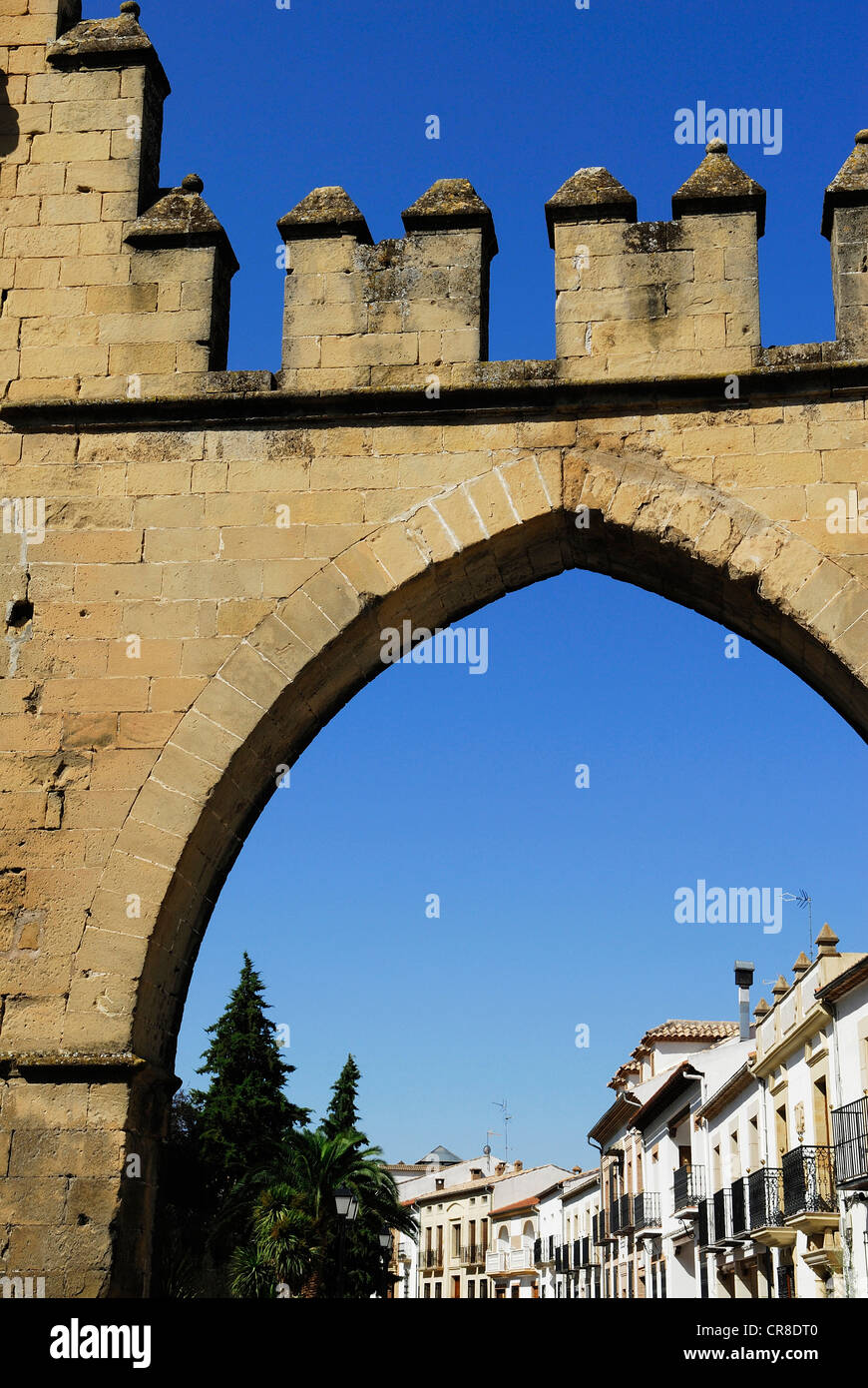 Spain, Andalusia, province of Jaen, Baeza, city UNESCO World Heritage, Villalar Arch built in 1521 - Stock Image