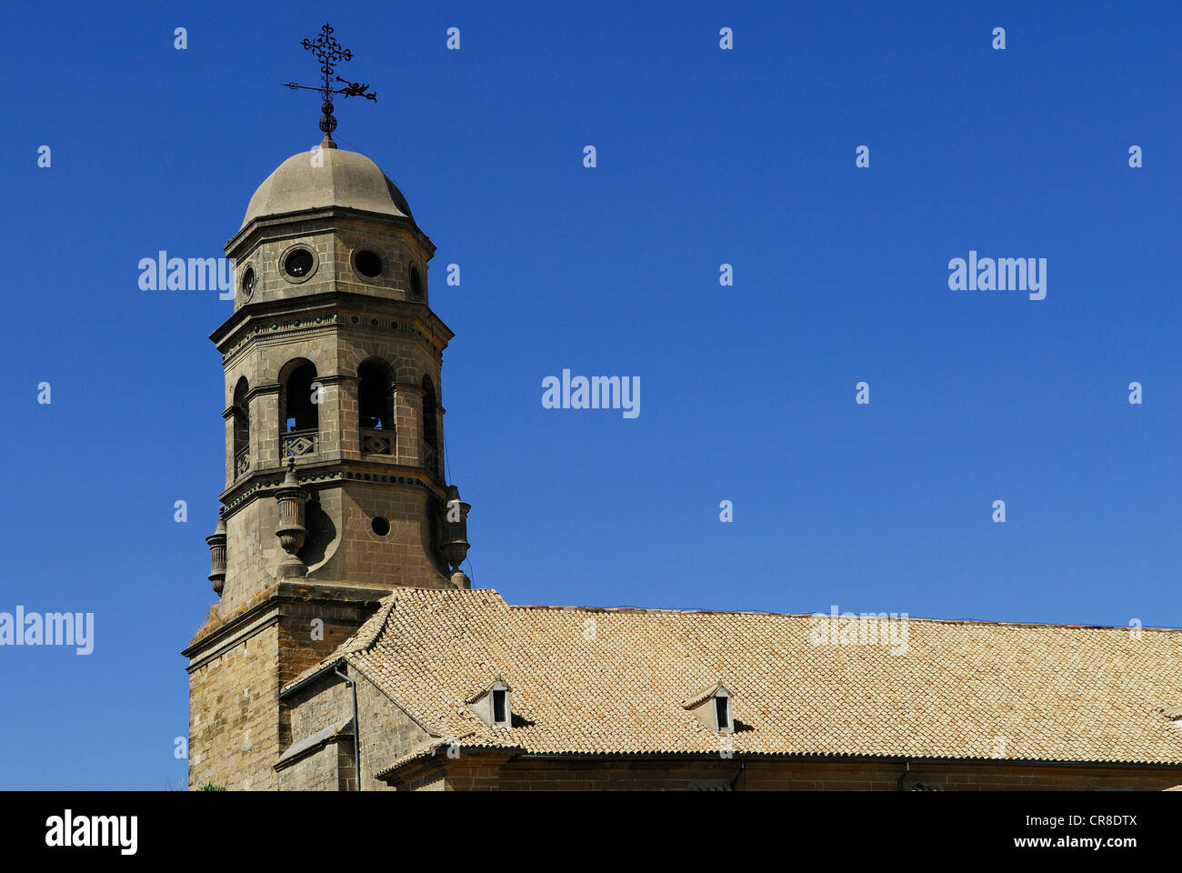 Spain, Andalusia, province of Jaen, Baeza, city UNESCO World Heritage, the bell tower of the cathedral - Stock Image