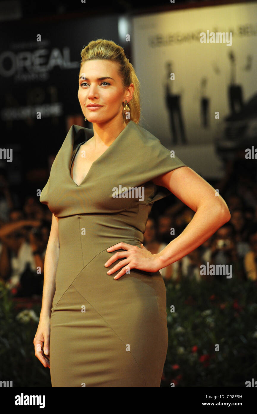Kate Winslet attending the premiere of the film Carnage, 68th International Film Festival of Venice, Italy, Europe - Stock Image