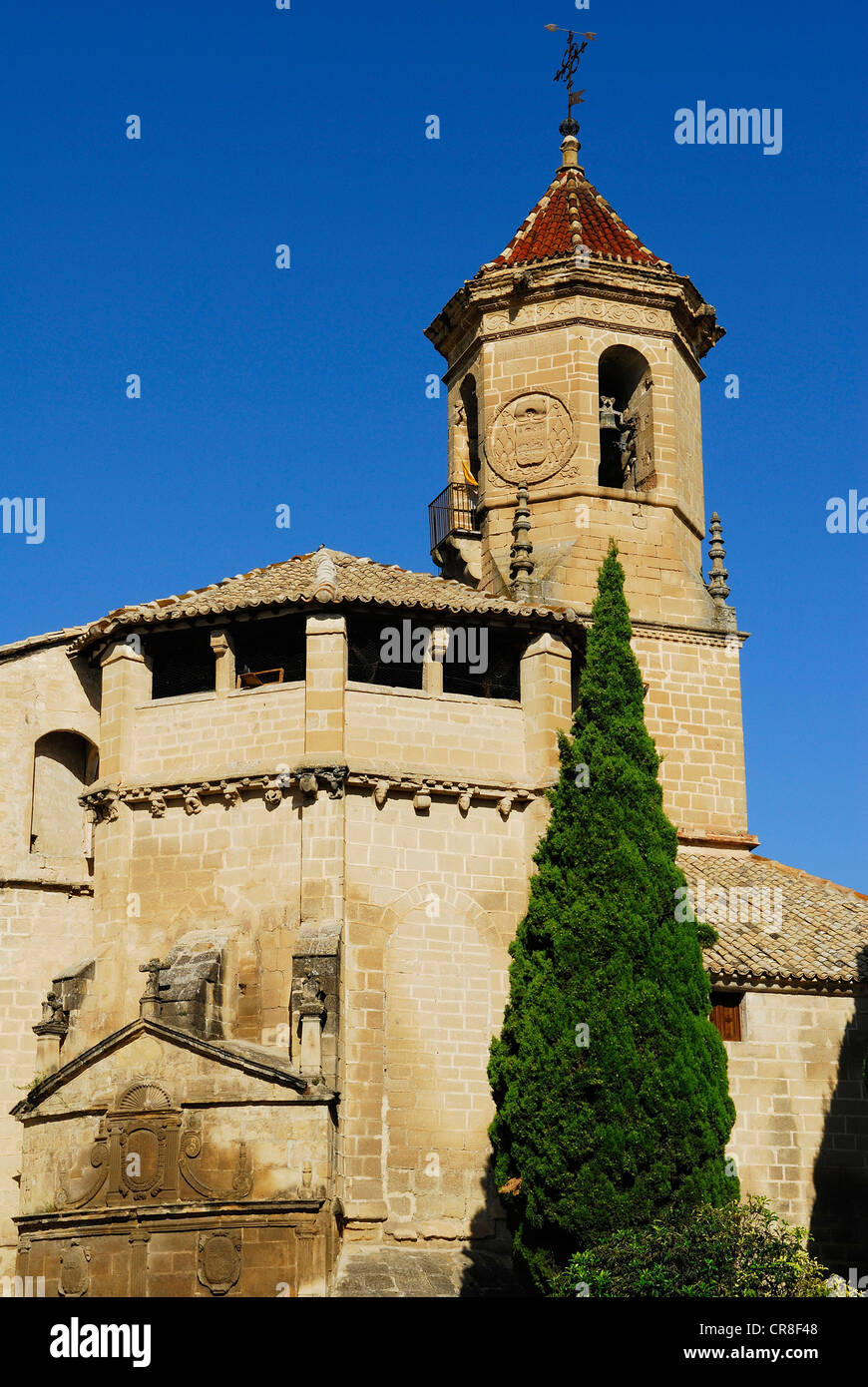 Spain, Andalusia, province of Jaen, Ubeda, city UNESCO World Heritage, 1st May Square, St Paul Church - Stock Image