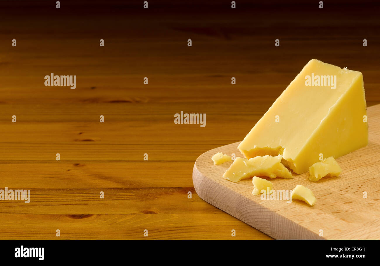Mature Cheddar Cheese - Stock Image