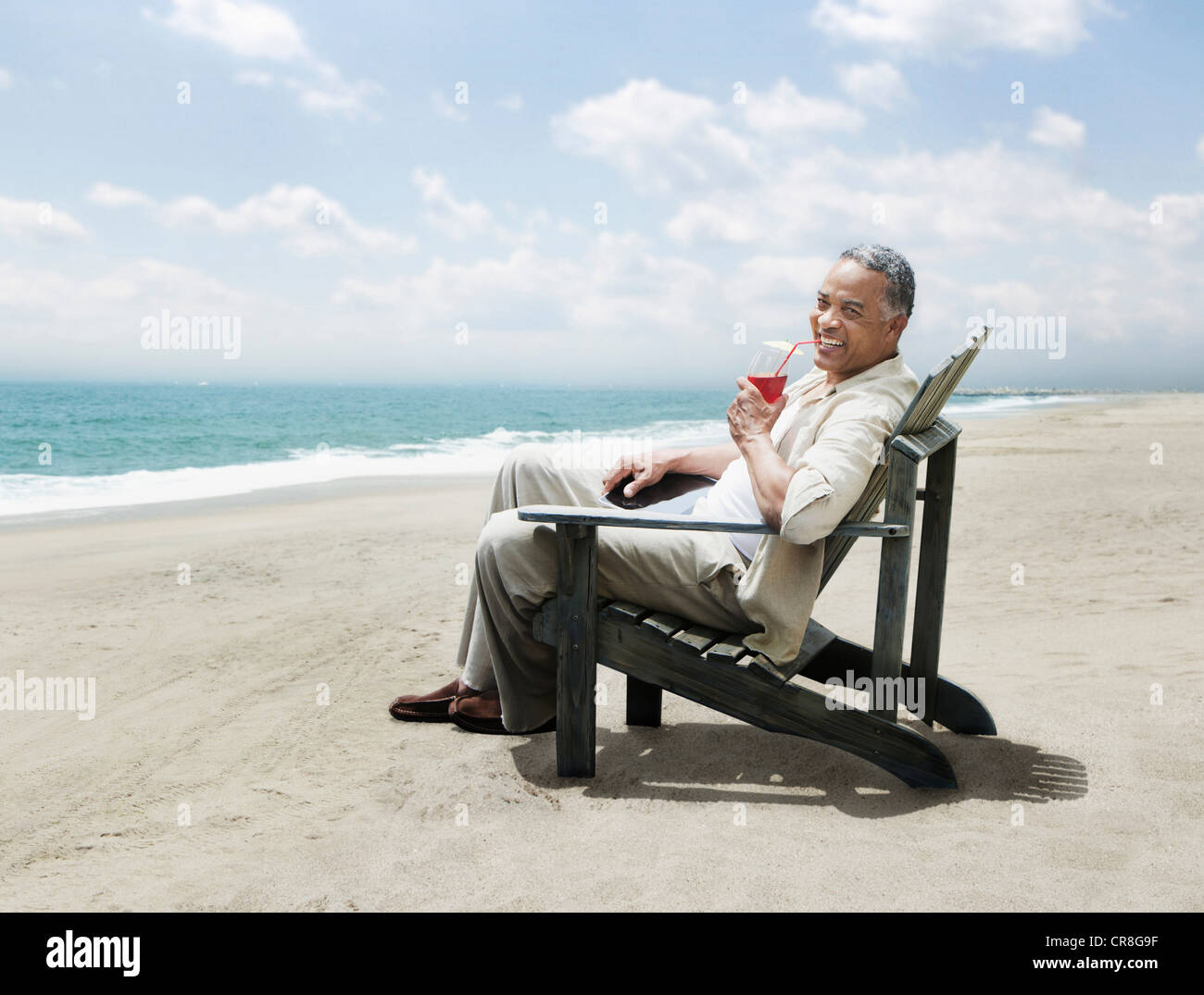 Tourist Sitting In Beach Chair High Resolution Stock Photography And Images Alamy
