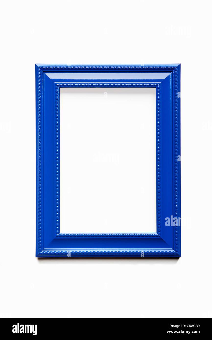 Empty blue frame - Stock Image