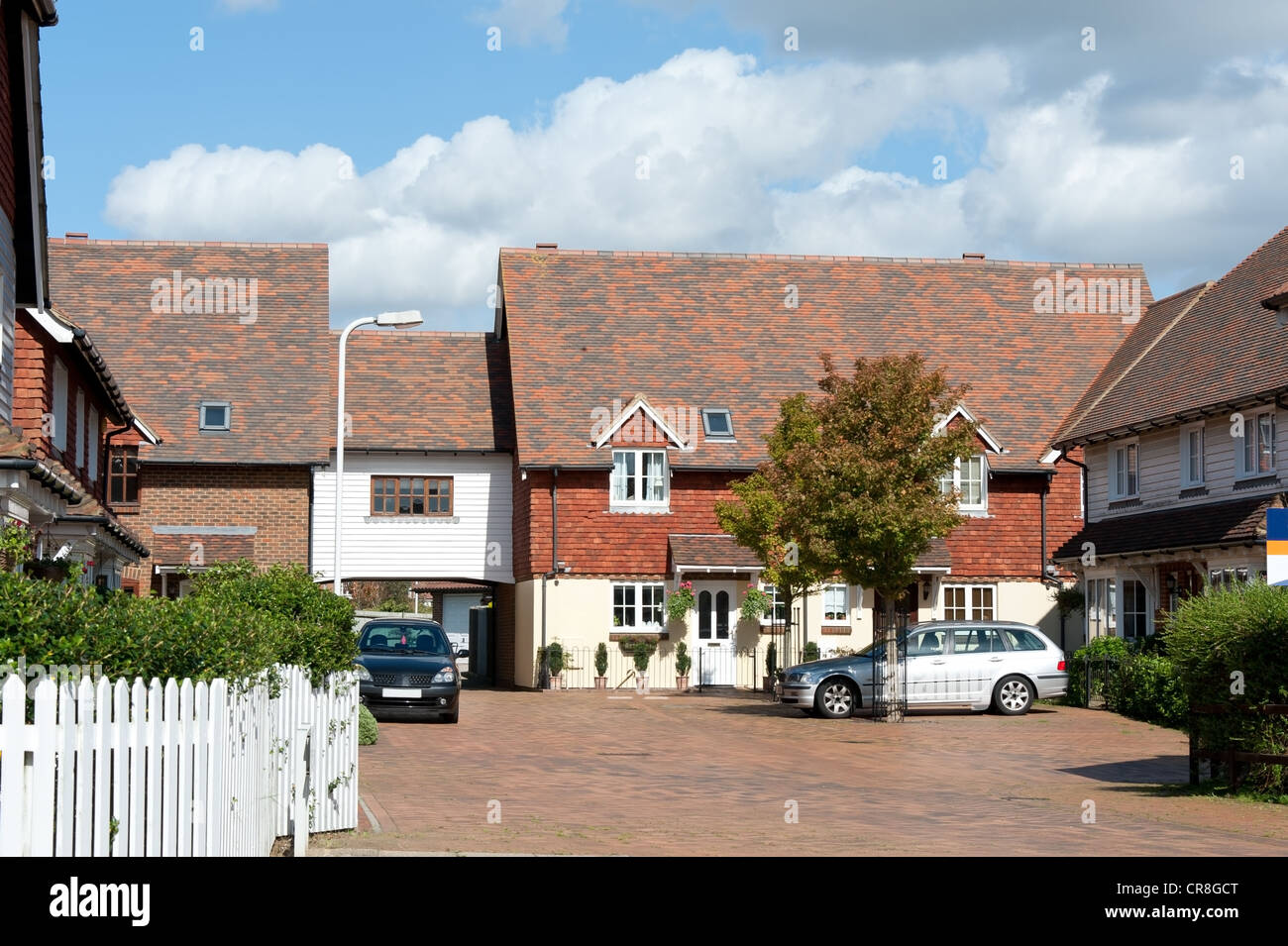 Newly built terraced townhouses - UK Stock Photo