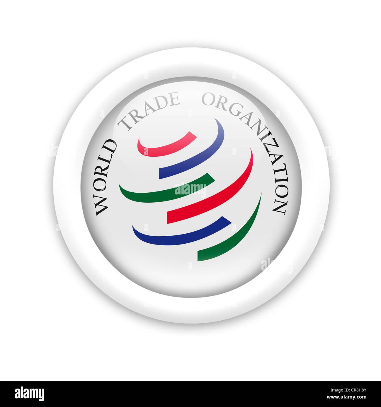WTO  flag symbol icon logo emblem Stock Photo