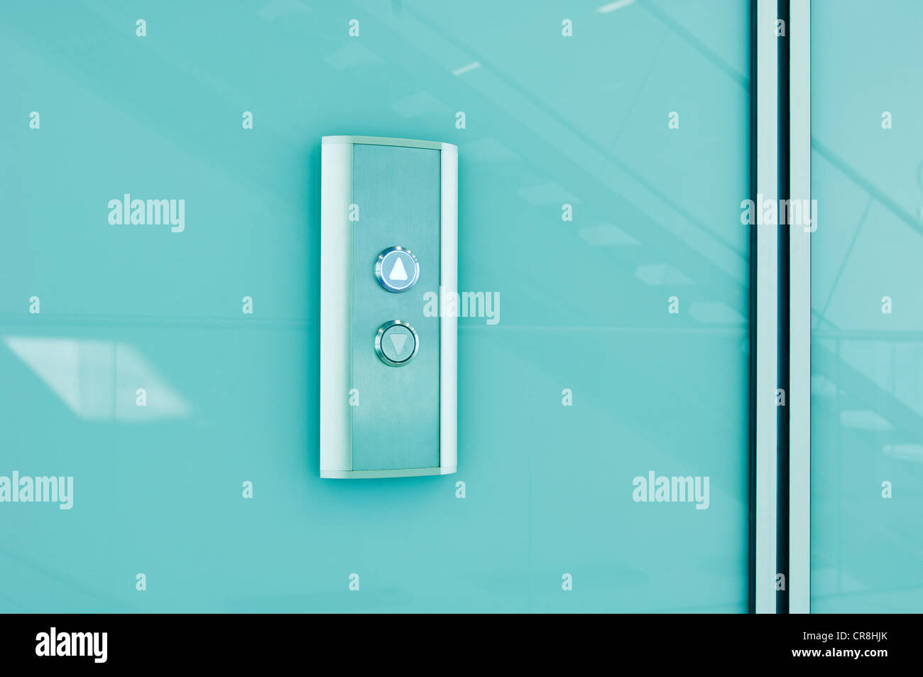 Elevator controls in modern office block - Stock Image