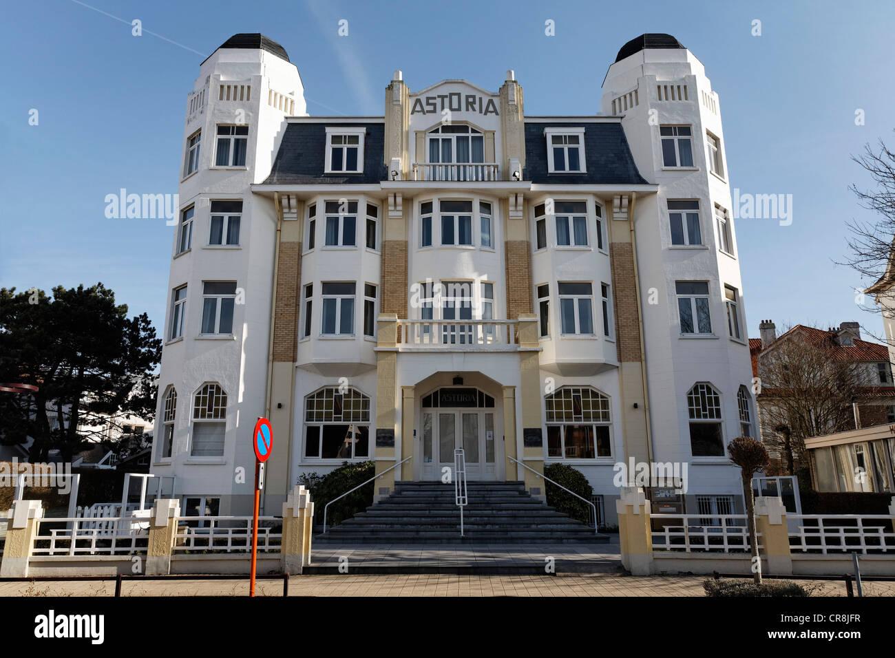 Astoria Hotel, Art Deco Style, De Haan, West Flanders, Belgium, Europe