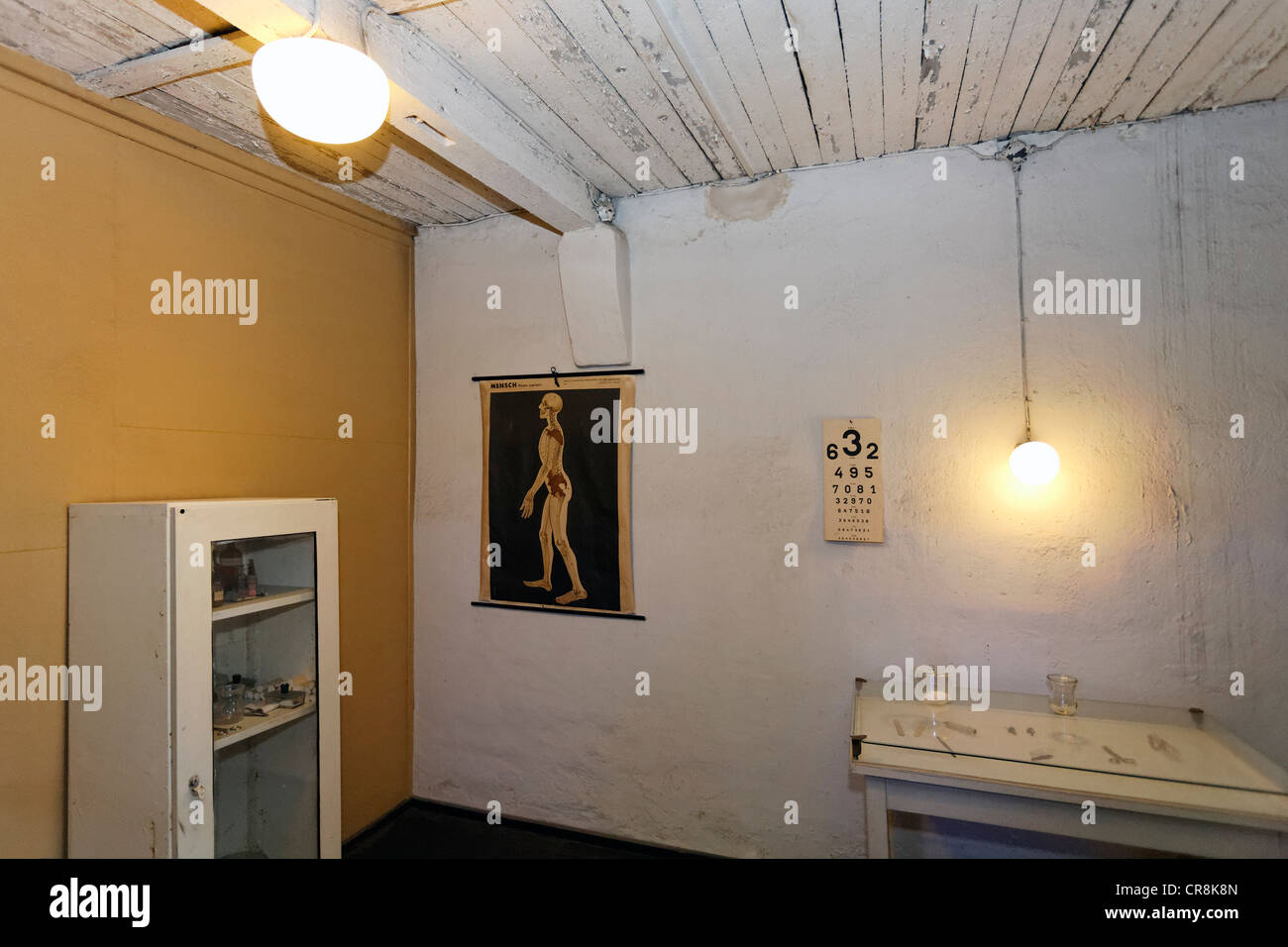 Department of Pathology, Buchenwald memorial, former concentration camp near Weimar, Thuringia, Germany, Europe - Stock Image