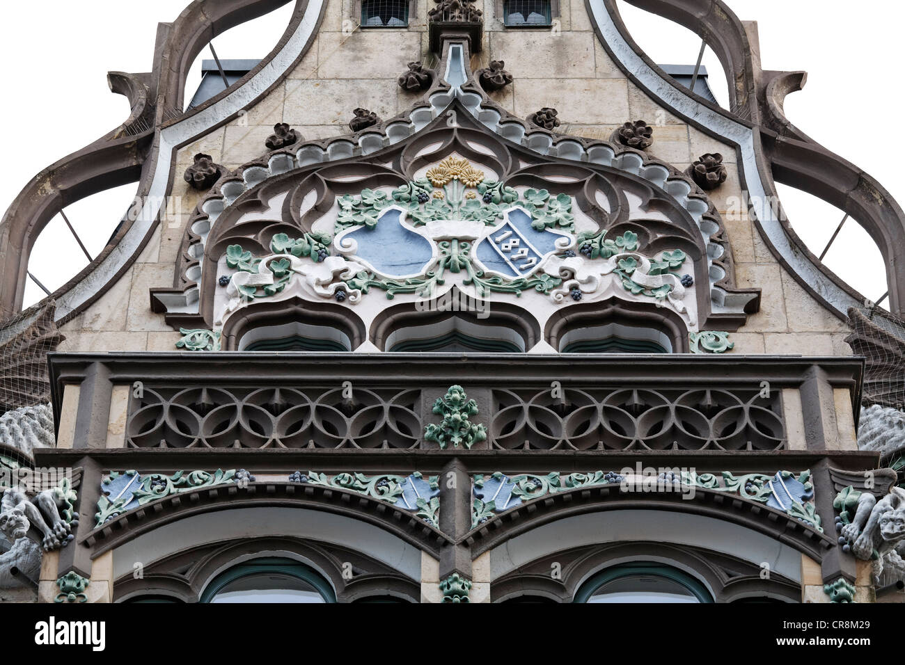 Anger 23 commercial building, art nouveau facade, Erfurt, Thuringia, Germany, Europe - Stock Image