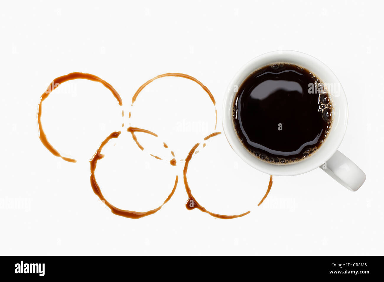 Olympic coffee, doping - Stock Image