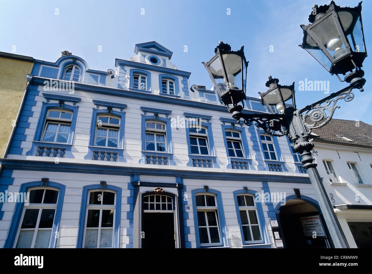 Original company building of the Hebertz merchant family, Uerdingen district, Krefeld, North Rhine-Westphalia, Germany, - Stock Image
