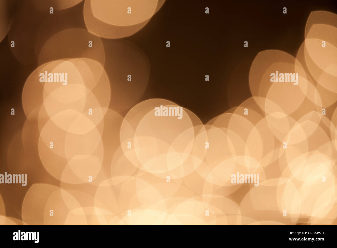 Abstract beige lights - Stock Image