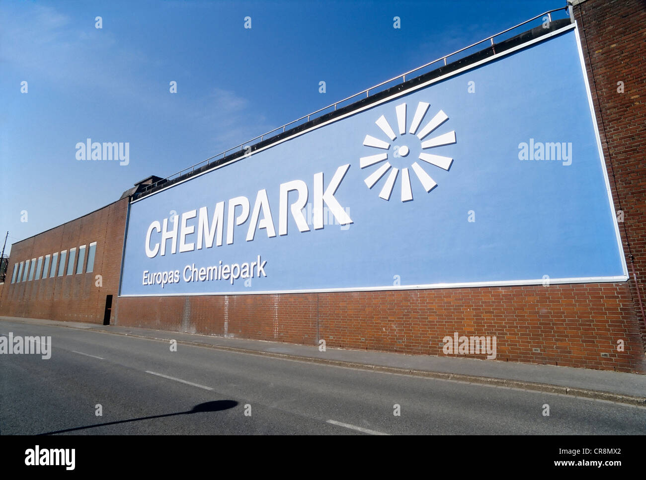Giant Chempark Logo, formerly known as Bayer Industry Services, Uerdingen district, Krefeld, North Rhine-Westphalia - Stock Image