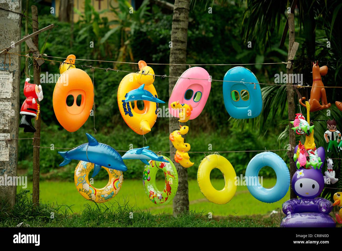 Inflatable toys, Sri Lanka Stock Photo