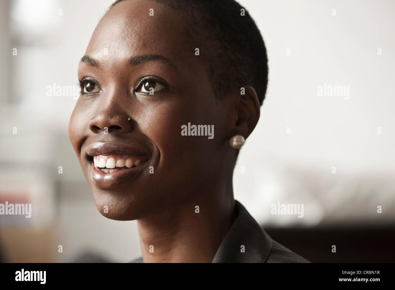 Young businesswoman, portrait Stock Photo