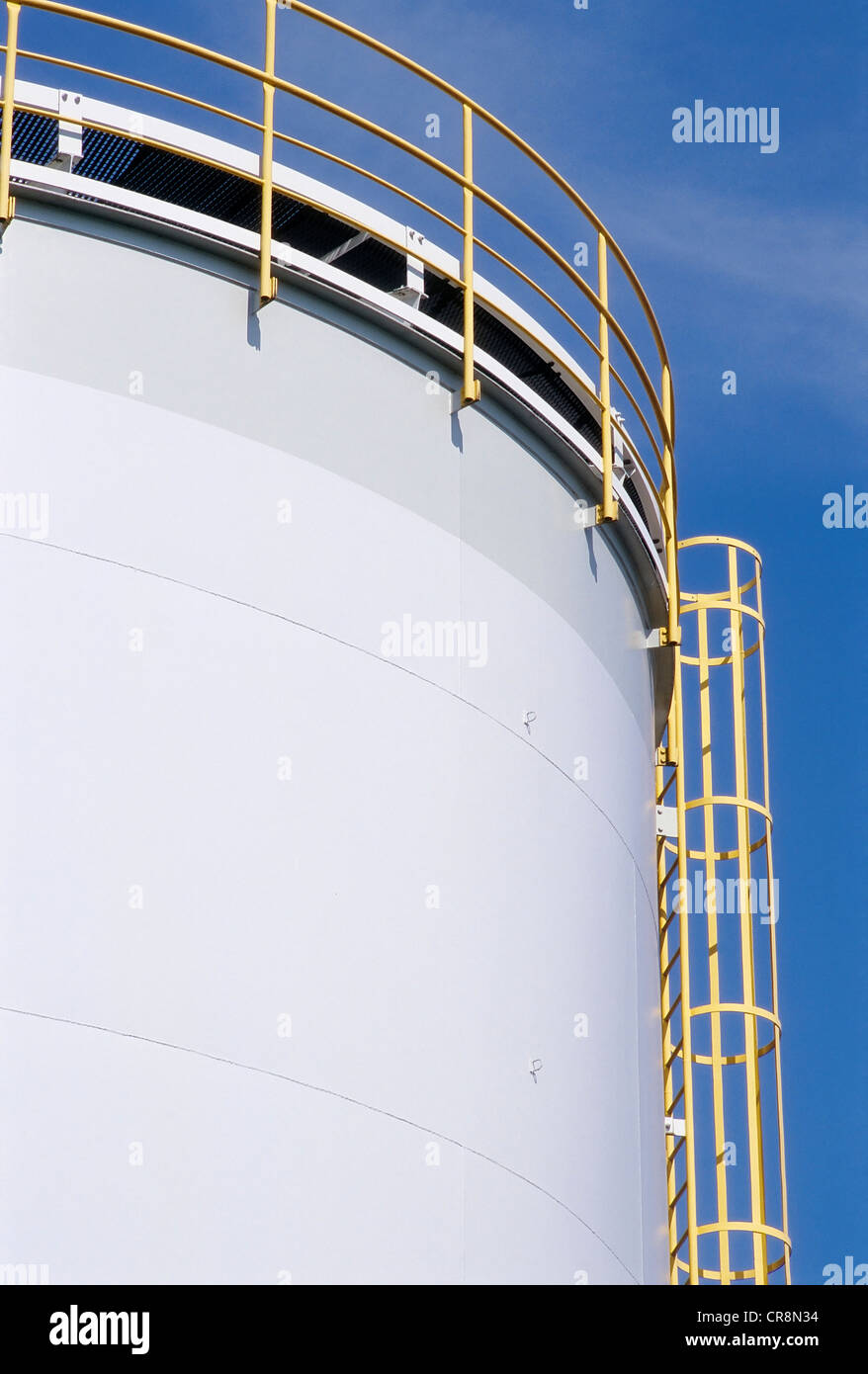 Tank containing hydrochloric acid, Chempark Krefeld-Uerdingen industrial park, formerly known as Bayer Industry - Stock Image