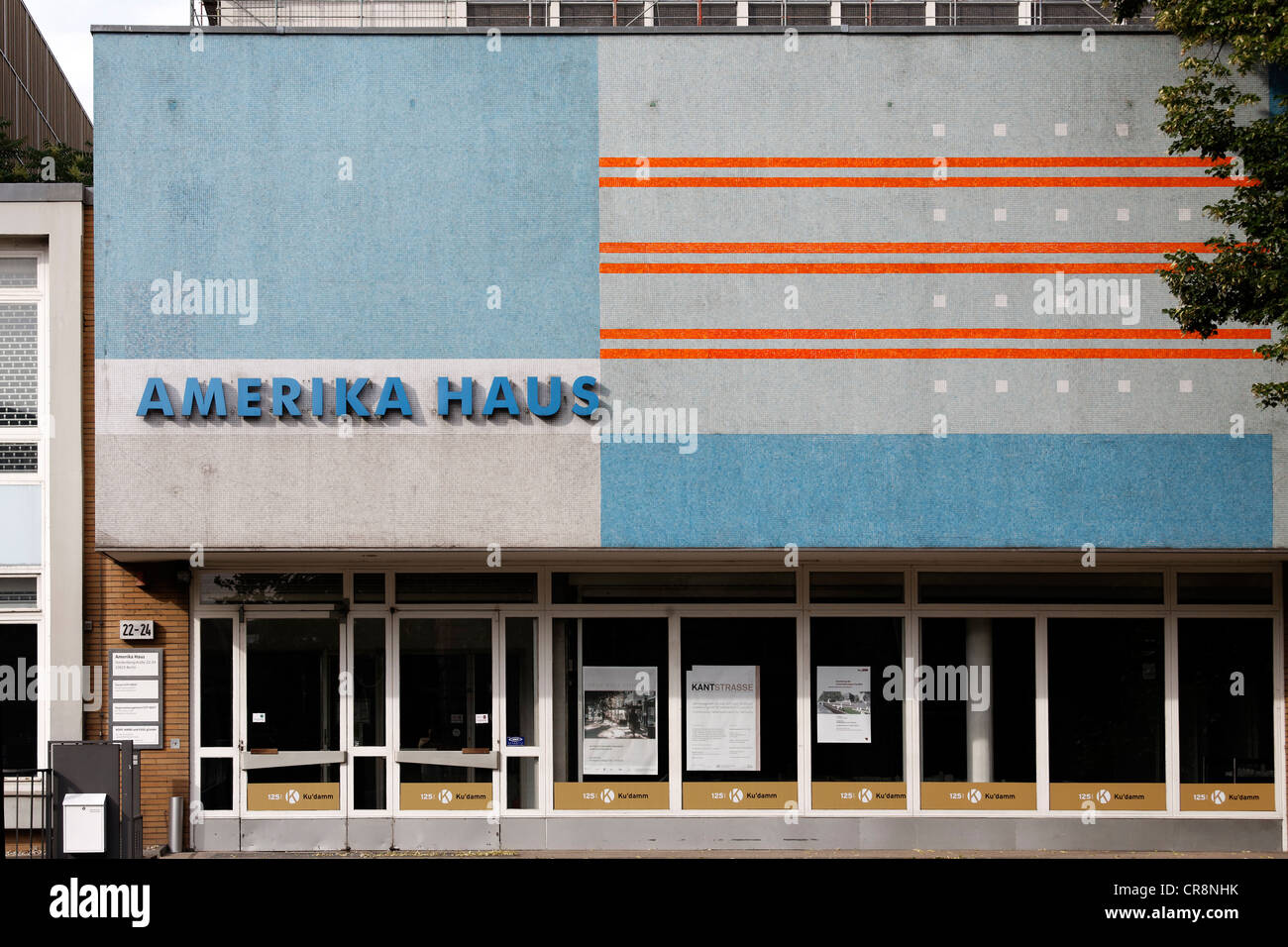 Amerika-Haus, architectural monument from the 1960's, former House of Culture and Information Service of the - Stock Image