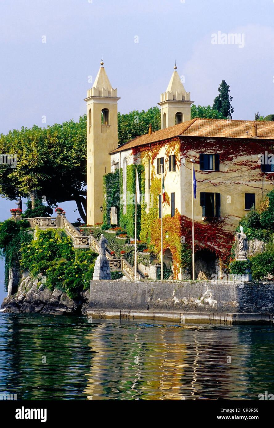 Villa del Balbianello, Lavedo peninsula, Lenno, Lake Como, Como region, Lombardy, Italy, Europe Stock Photo