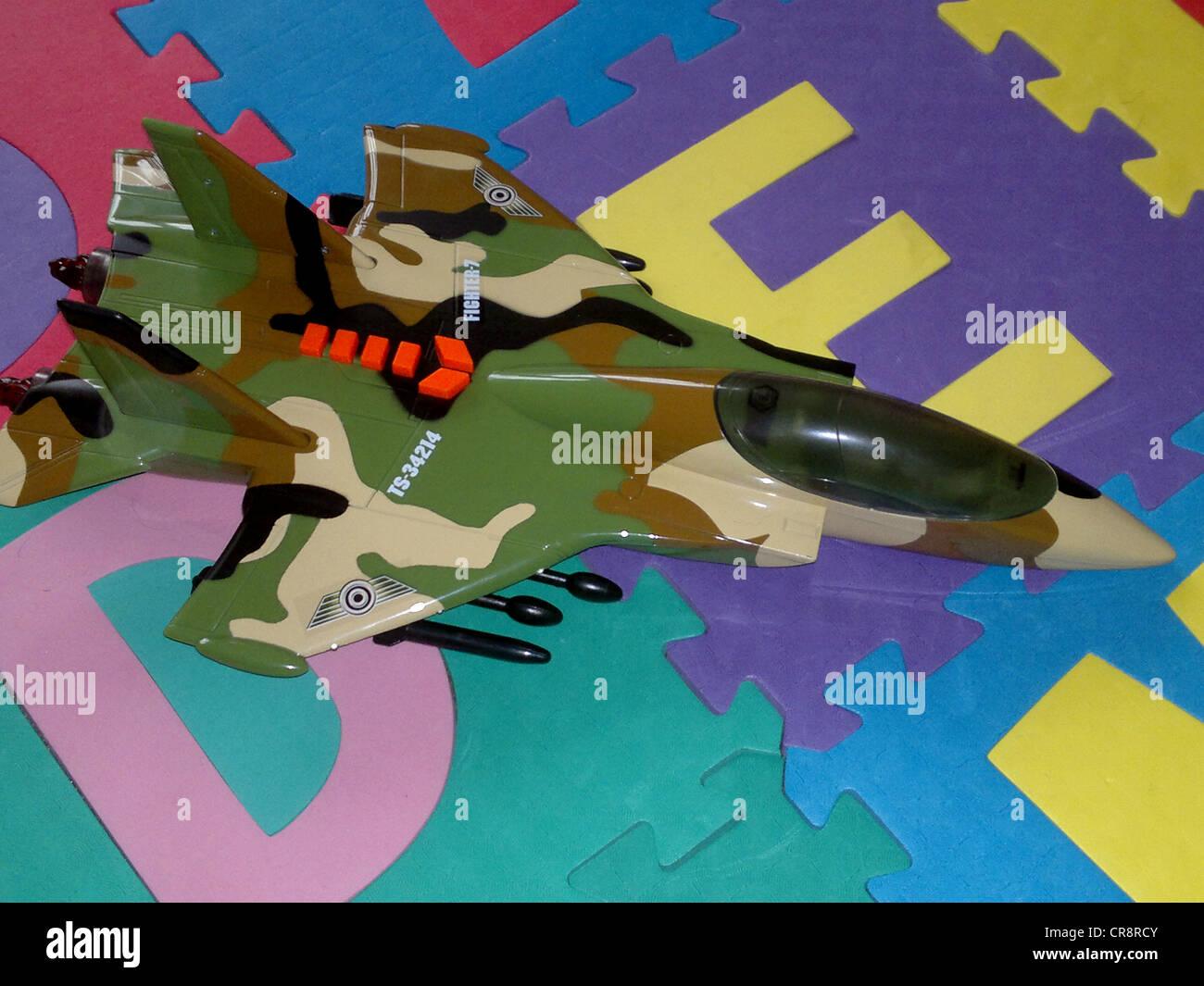 jet plane toy room - Stock Image