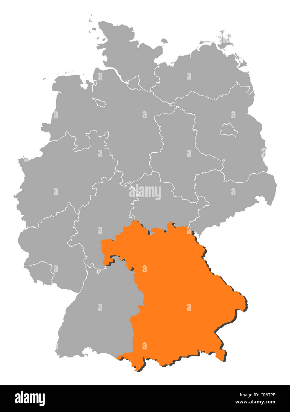 Political Map Germany Several Bavaria Stock Photos & Political Map ...