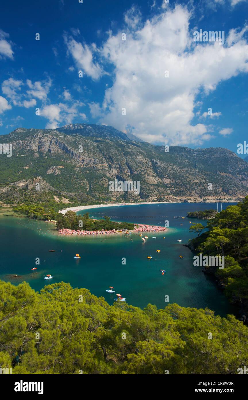Oeluedeniz near Fethiye, Turkish Aegean Coast, Turkey - Stock Image