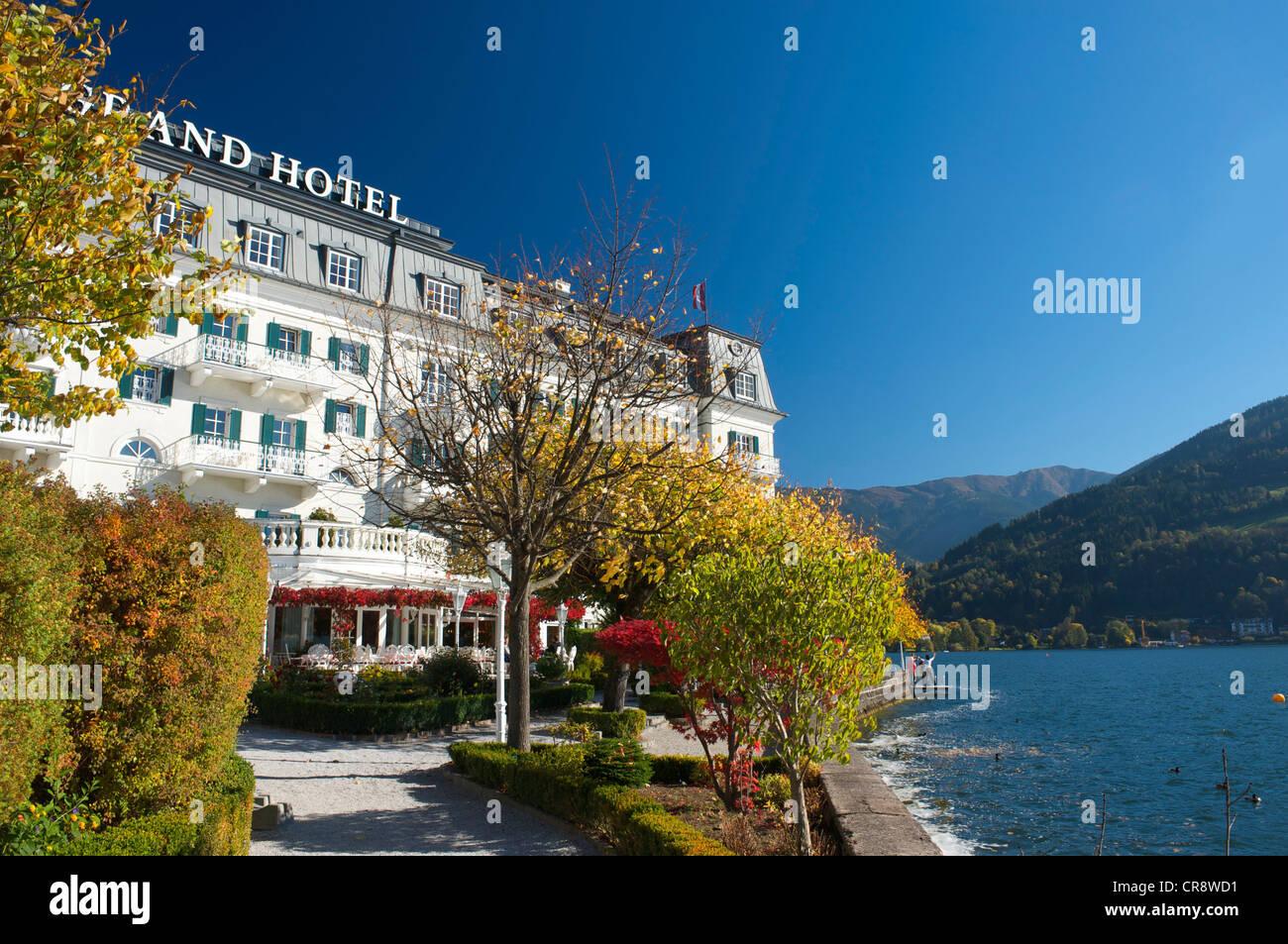 Grand Hotel in Zell am See, Lake Zell, Pinzgau region, Salzburger Land, Austria, Europe Stock Photo