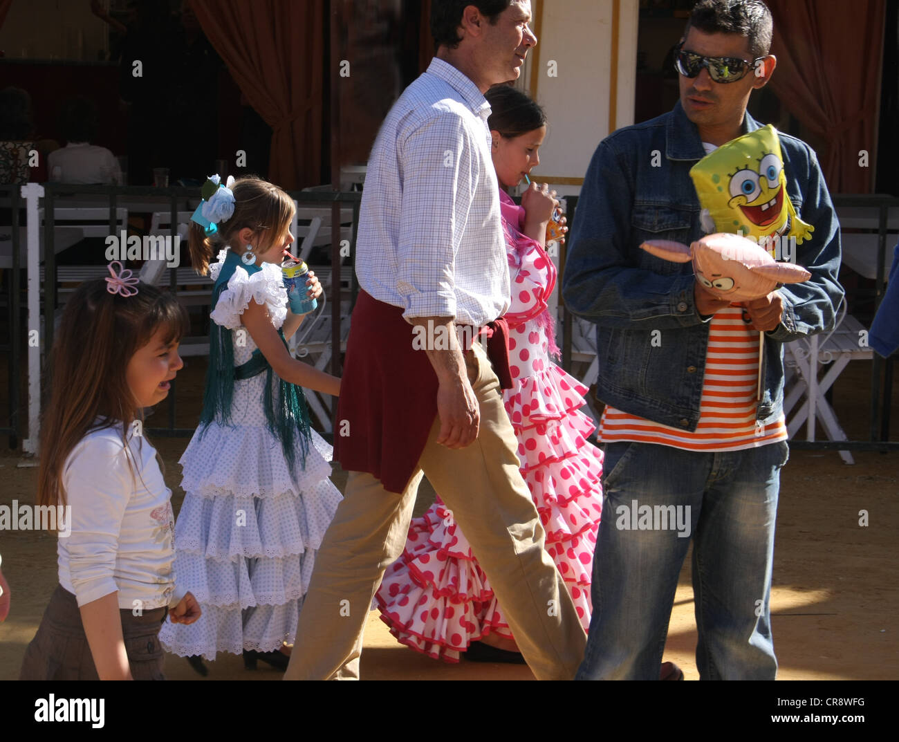 Horse fair in Jerez in Spain - Stock Image
