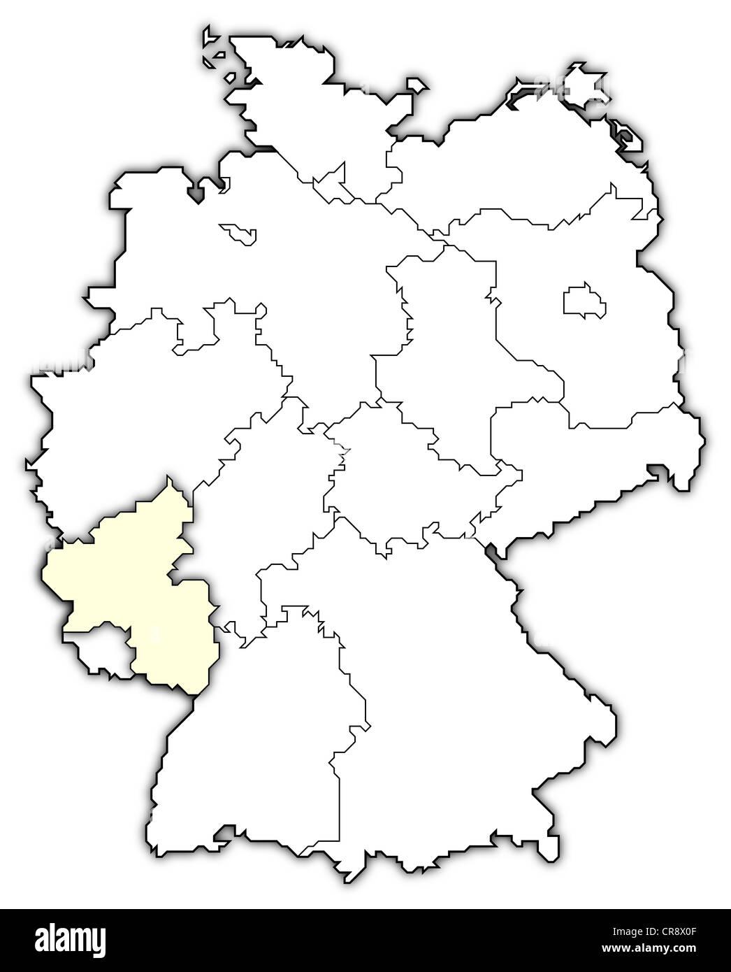 Map Of Germany Rhineland.Map Germany Rheinland Pfalz Stock Photos Map Germany Rheinland