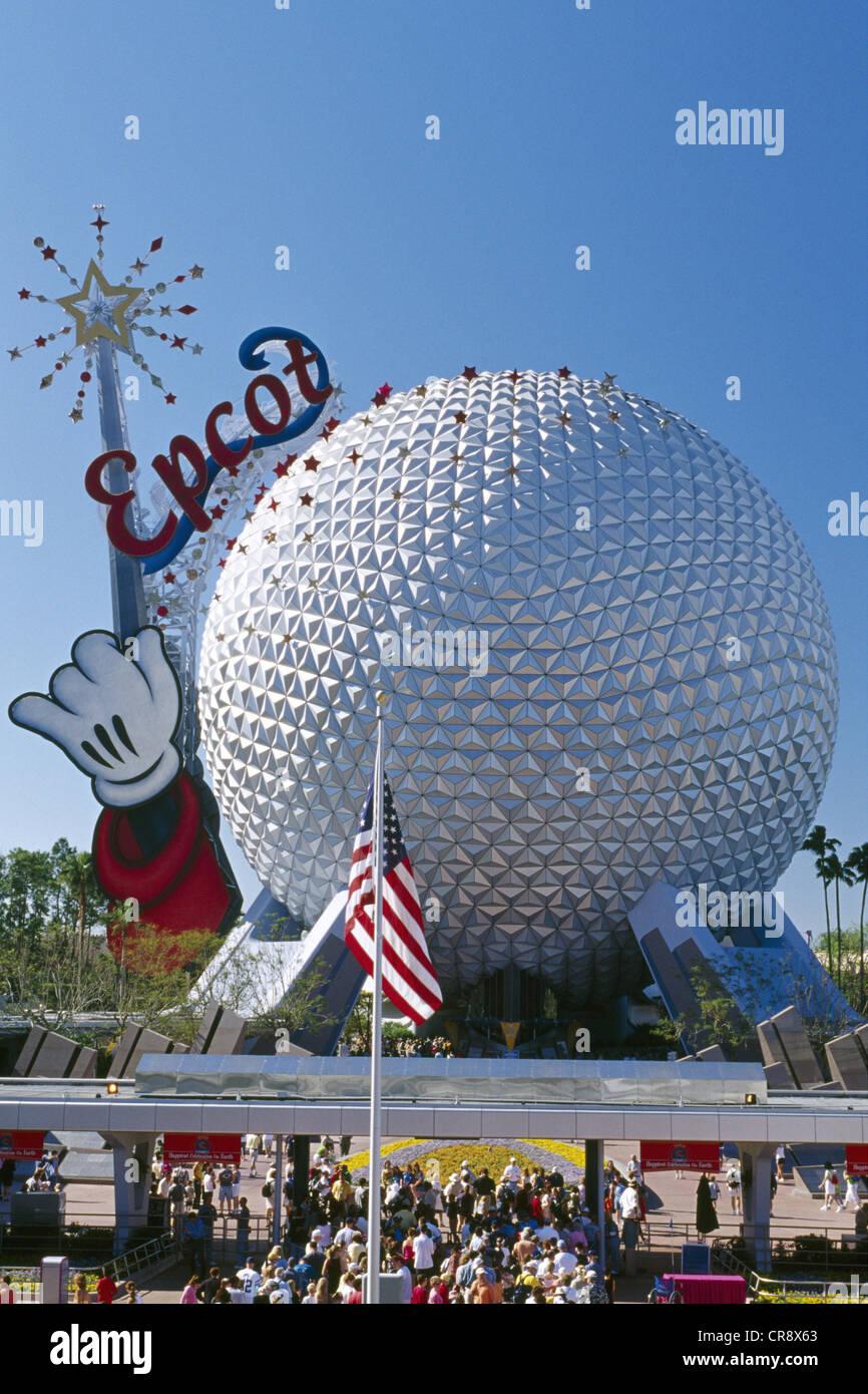 Epcot Center, theme park, Disneyland, Orlando, Florida, USA Stock Photo