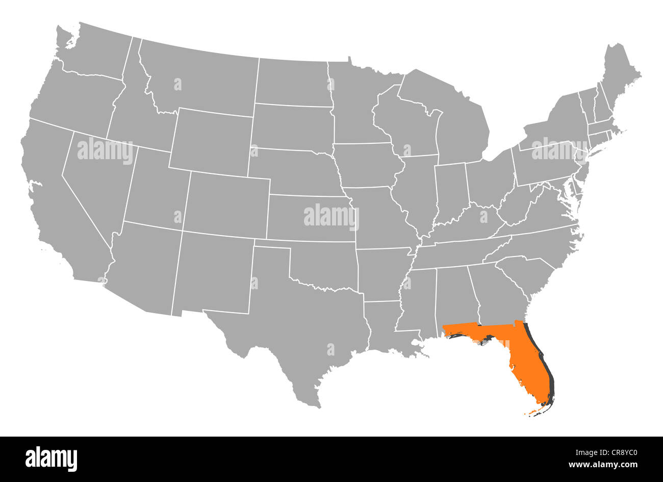 Political Map Of Florida.Florida Maps Cut Out Stock Images Pictures Alamy