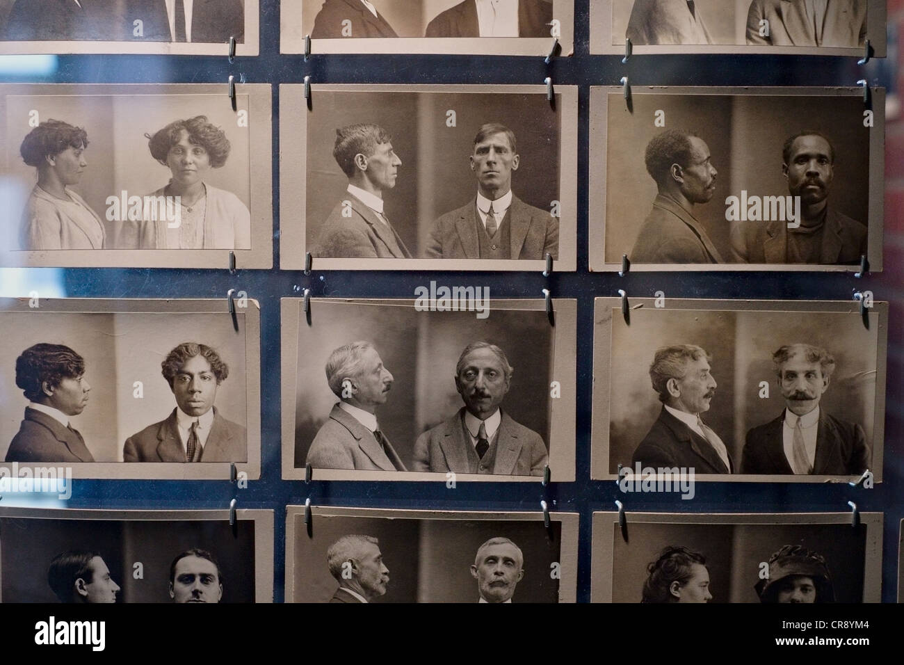 Old Bertillon system mugshots on display at New York City