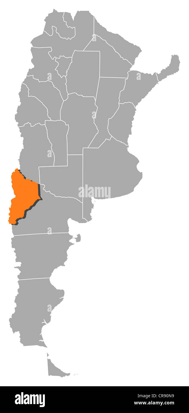 Political map of argentina with the several provinces where neuqun political map of argentina with the several provinces where neuqun is highlighted gumiabroncs Images