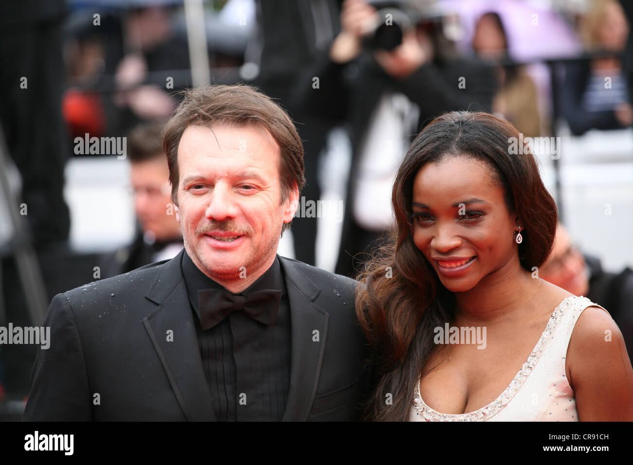 Samuel Le Bihan and his wife Daniela arriving at the Vous N'Avez Encore Rien