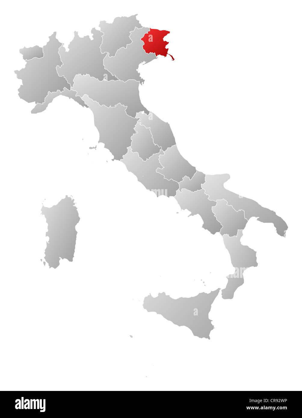 Cartina Friuli Venezia Giulia.Friuli Venezia Giulia Vector High Resolution Stock Photography And Images Alamy