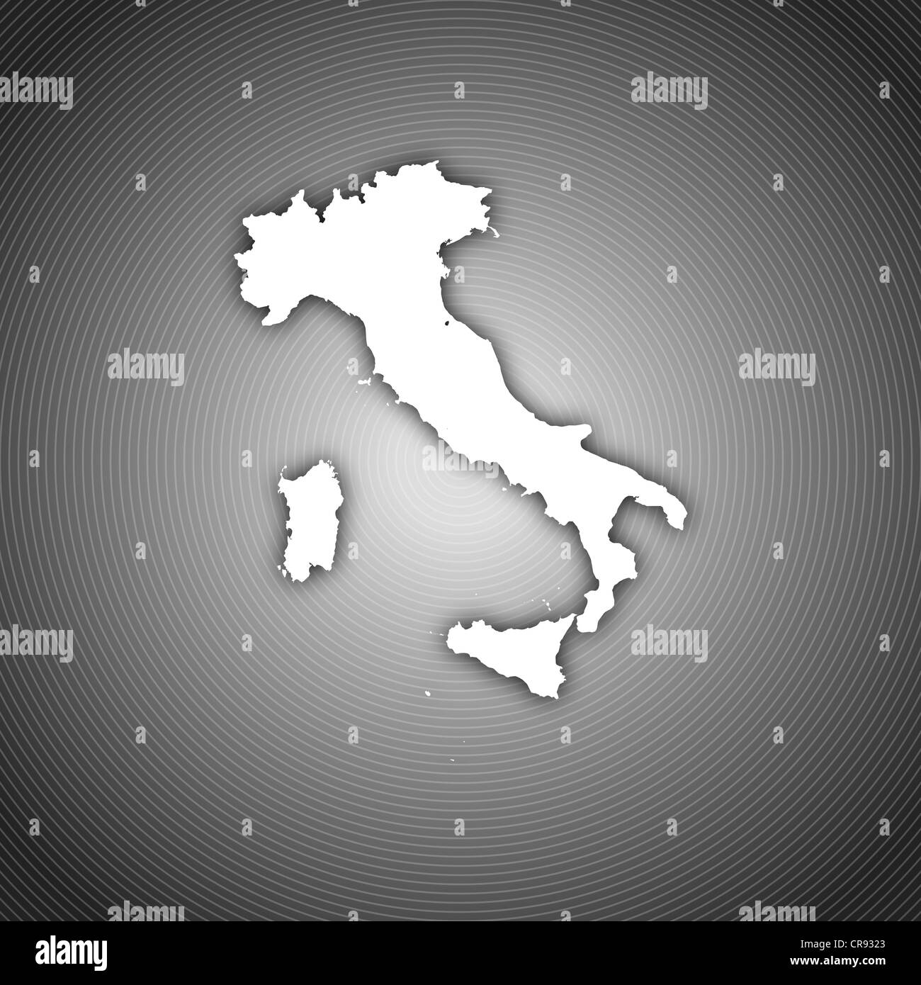 Political map of Italy with the several regions Stock Photo ... on black and white venice italy, black and white italy map regions, black and white printable map of greece,