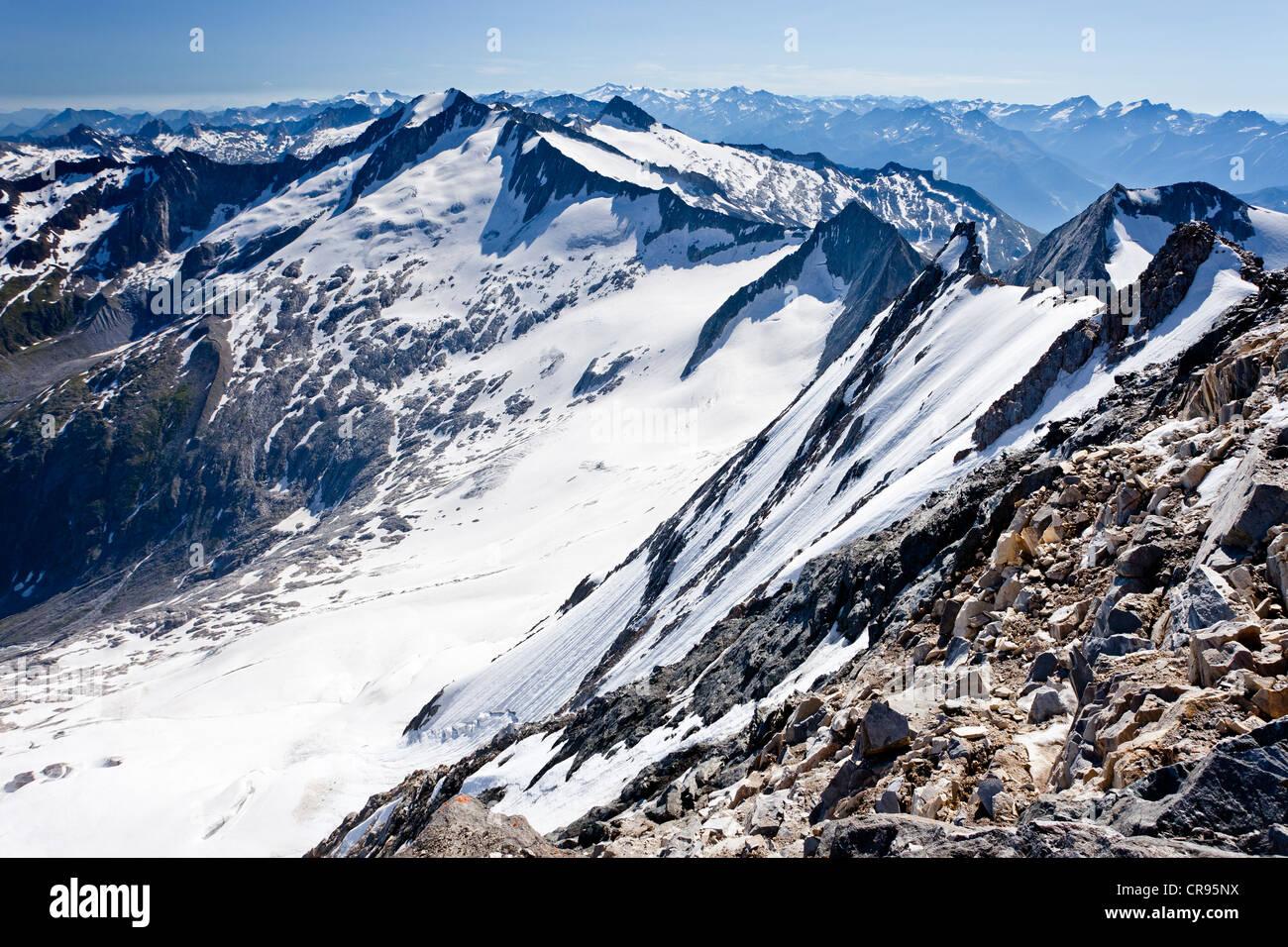 North face of Mt Hochfeiler, Pfitschertal valley, South Tyrol, Italy, Europe Stock Photo