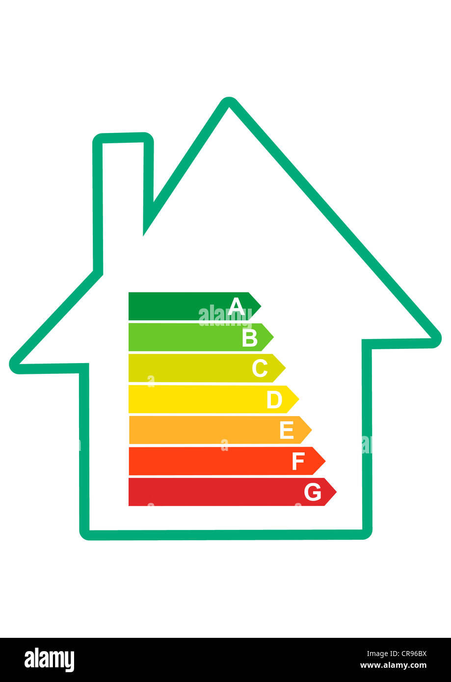 EU energy efficiency label, an indicator of the consumption of electrical devices Stock Photo