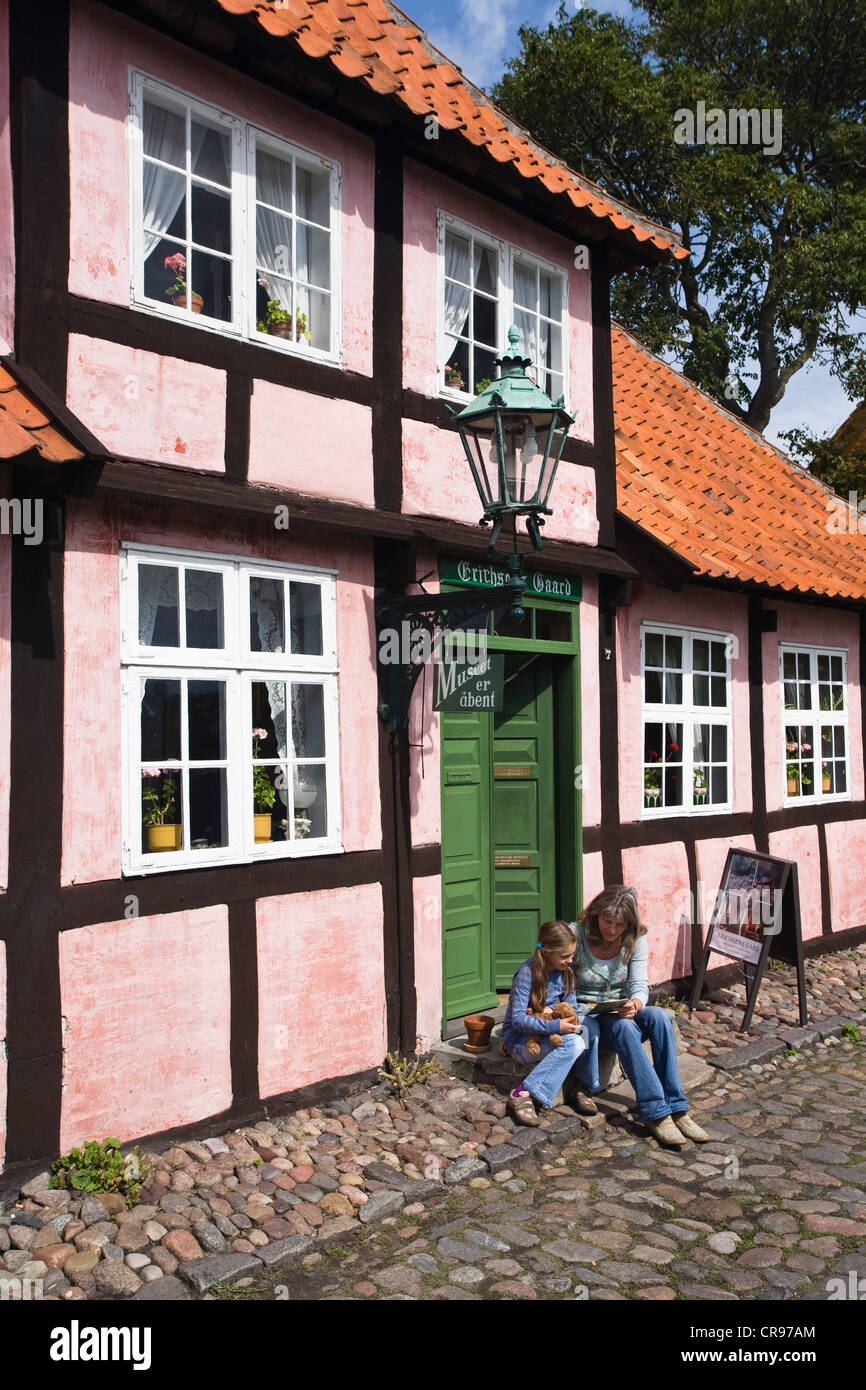 Erichsens Gaard Museum, Rønne, Bornholm, Denmark, Europe - Stock Image