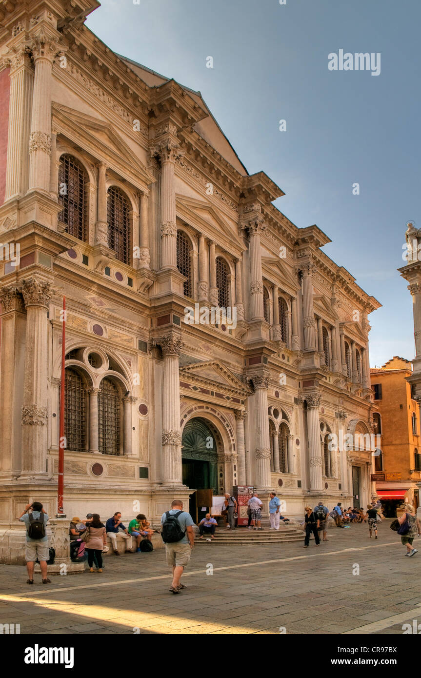 Scuola Grande di San Rocco with Tintoretto's world-famous exhibition, Tintoretto painted 56 pictures here in - Stock Image