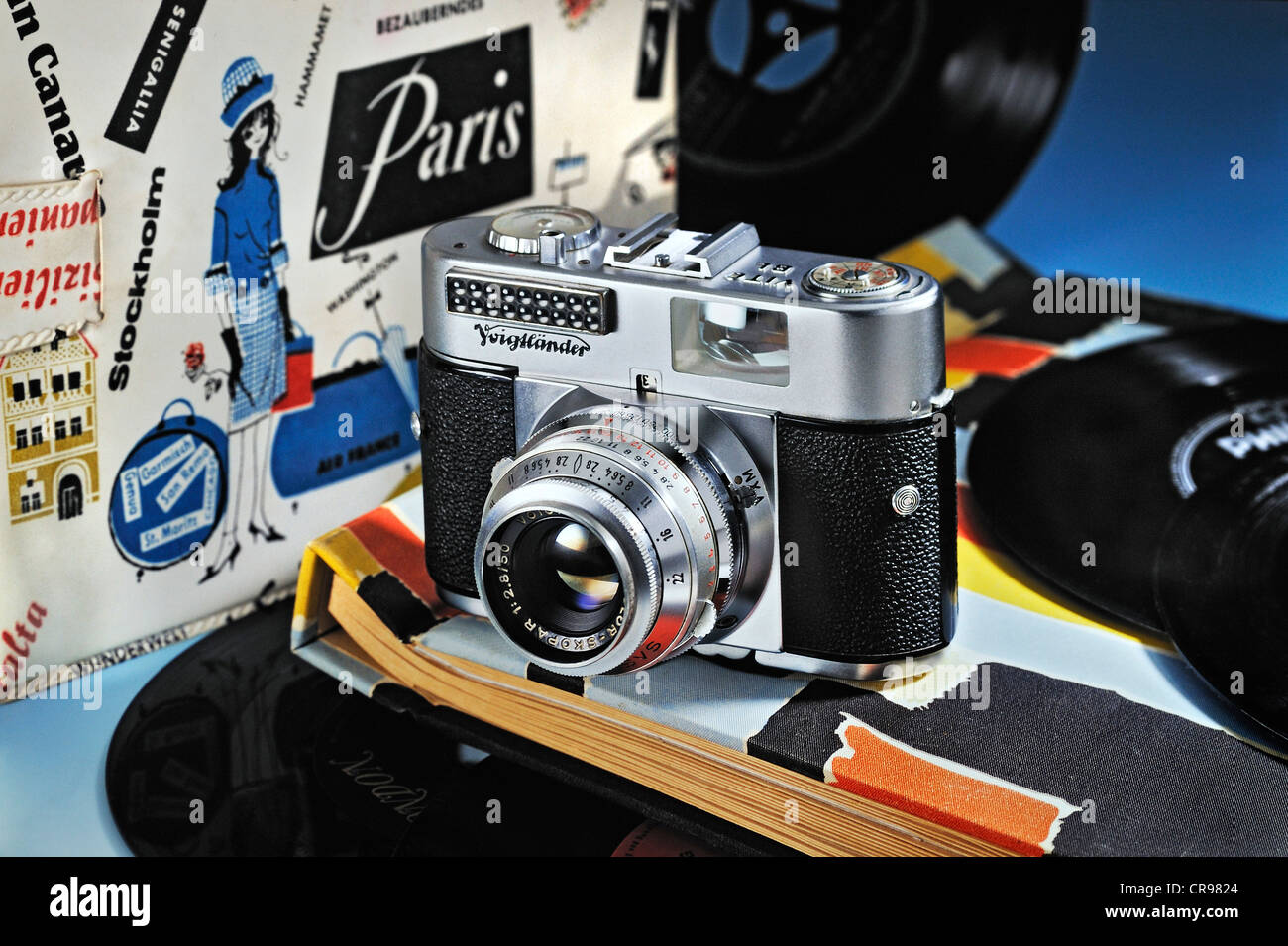 Voigtlaender Vito BL, camera from the 60s with single records - Stock Image